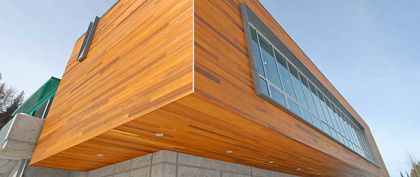 Wood innovation construction at UNBC