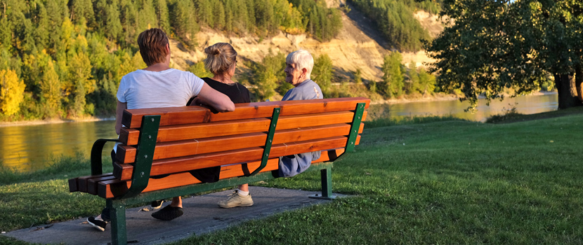 Park benches are often funded from local donations
