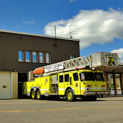 Fire Hall #1 currently cannot accommodate the City's new fire truck.