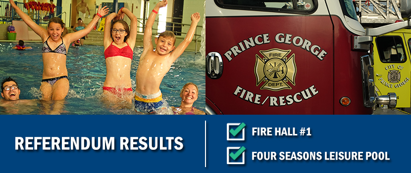 The Four Seasons Pool and Fire Hall #1 will be the subjects of a referendum in 2017.