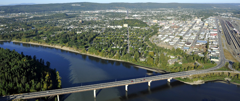 Prince George is situated at a hub for highways and rail lines. The City itself has more than 700km of roads.