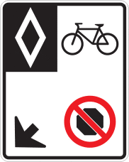Dedicated bike lane sign