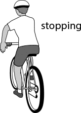cyclist stopping hand signal
