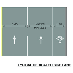 Dedicated bike lane road symbol