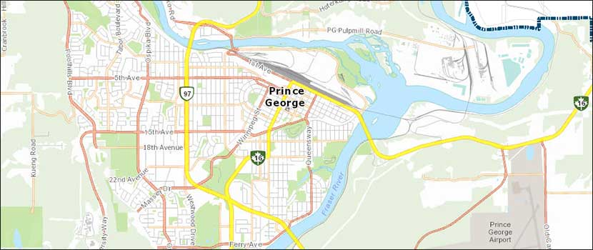 City of Prince George Maps