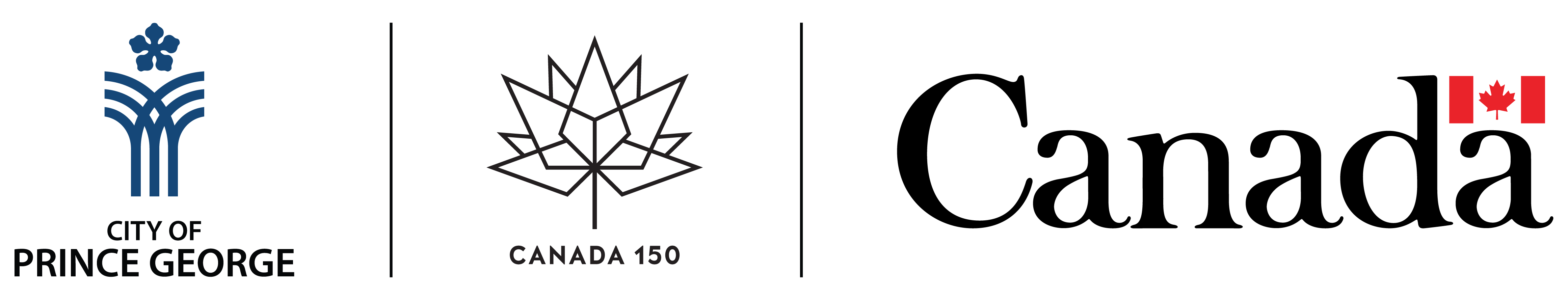 City of Prince George and Government of Canada - Canada 150 Logo