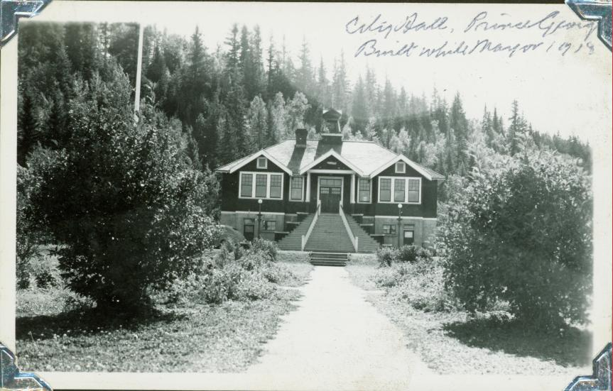 Prince George City Hall in 1918