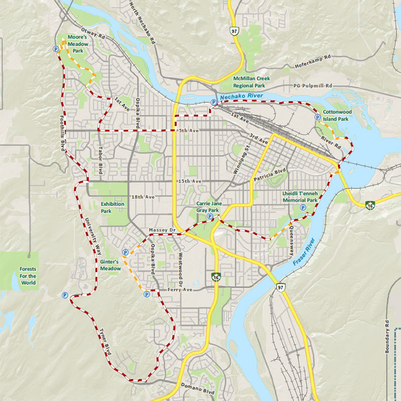 Centennial Connector Trail Loop map