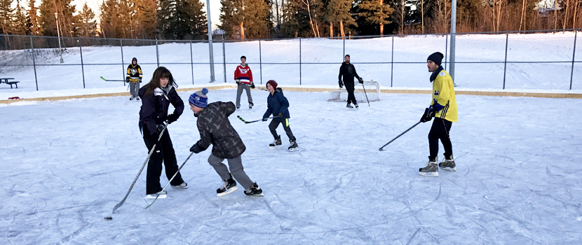 Community Associations maintain outdoor rinks around Prince George
